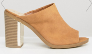 ASOS New Look Wide Fit Heeled Mule | $45.13